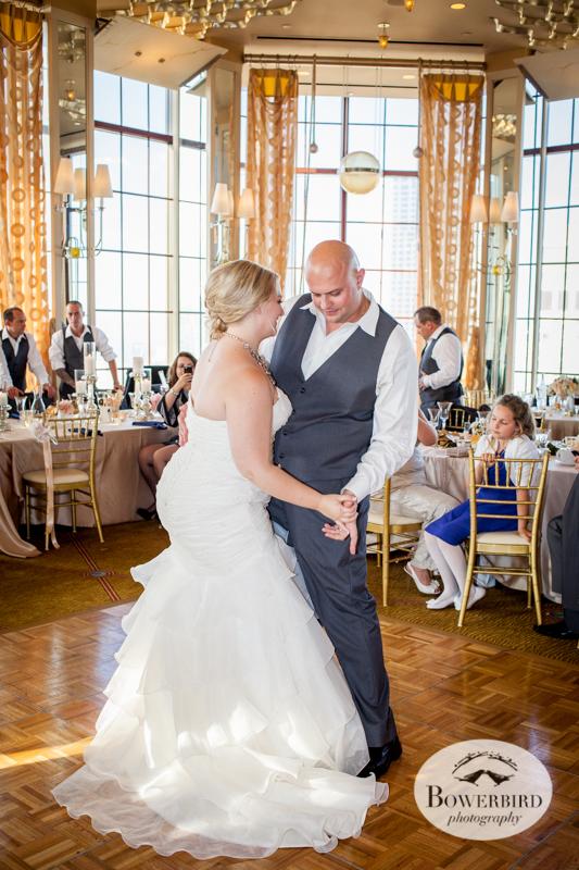 Enjoying their first dance. Westin St. Francis wedding © Bowerbird Photography 2014
