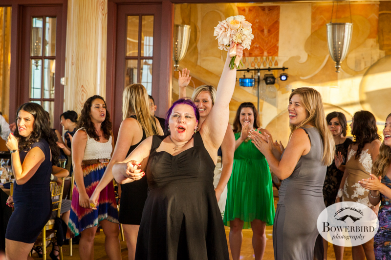 Bouquet toss winner! © Bowerbird Photography 2014