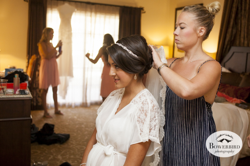 The bride prepares for her big day at the Meritage Resort & Spa.© Bowerbird Photography 2014