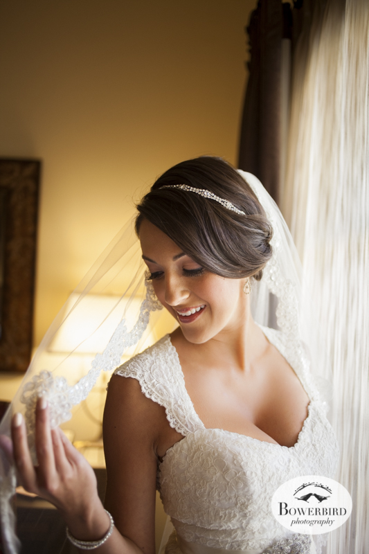 The bride looks beautiful! Meritage Resort & Spa wedding photography. © Bowerbird Photography 2014