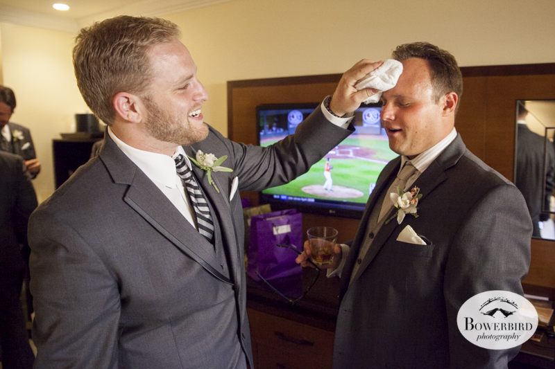 Don't worry, he's not even sweating it. Meritage hotel wedding in Napa.© Bowerbird Photography 2014