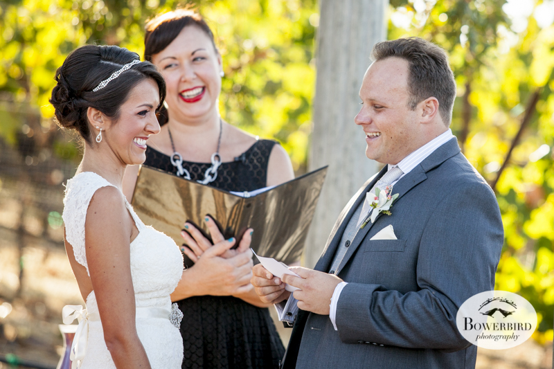 Vows and wows. Meritage wedding in Napa.© Bowerbird Photography 2014