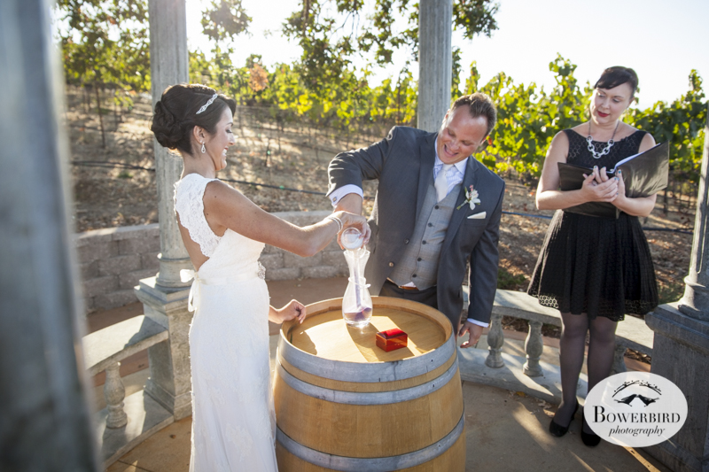 Mixing together the sands of time, life, and love.Meritage Resort.© Bowerbird Photography 2014