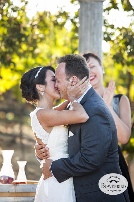 The kiss!!!Meritage wedding ceremony.© Bowerbird Photography 2014