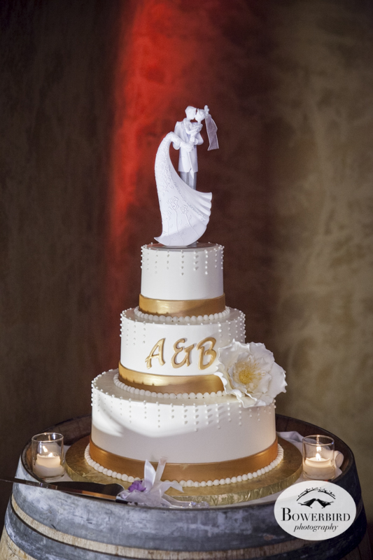 Wedding cake. The Meritage wine cave in Napa Valley.© Bowerbird Photography 2014