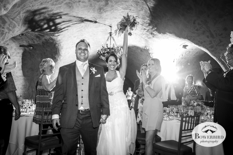 Meritage wine cave during the wedding reception. © Bowerbird Photography 2014