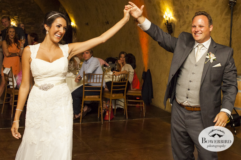 Meritage resort and spa wedding reception in tasting room. © Bowerbird Photography 2014