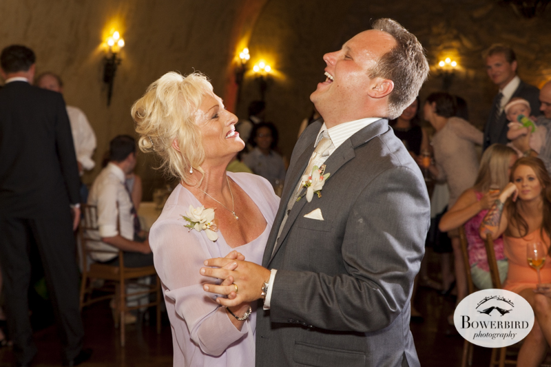 Mother-son dance.Meritage resort and spa wedding reception in tasting room. © Bowerbird Photography 2014