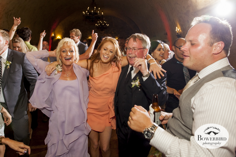 Dancing. Meritage resort and spa wedding reception in wine cave. © Bowerbird Photography 2014