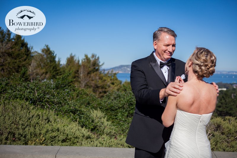 First look at Inspiration Point in the   Presidio. San Francisco Wedding Photography at the SF Film Centre. © Bowerbird Photography 2015