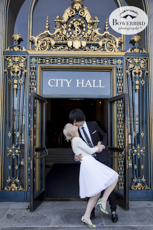 San Francisco City Hall Wedding. © Bowerbird Photography 2015