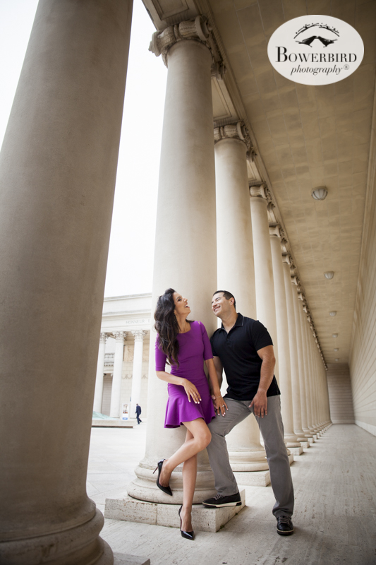 San Francisco Engagement Photography at Baker Beach and the Legion of Honor. © Bowerbird Photography 2015