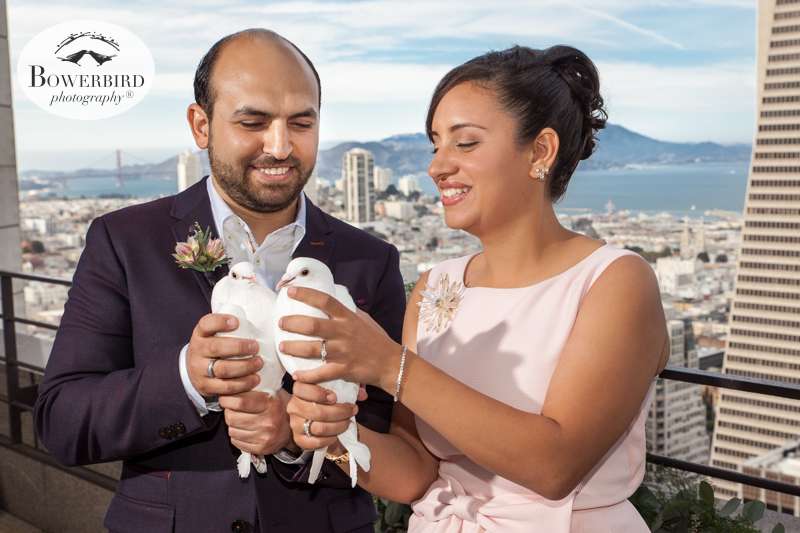 Wedding Dove Release. San Francisco Wedding Photography at Loews Regency Hotel. © Bowerbird Photography 2015