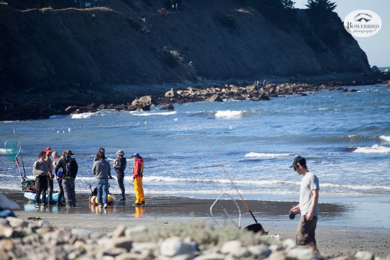 Fishing lesson at Linda Mar Beach in Pacifica.  © Bowerbird Photography 2015