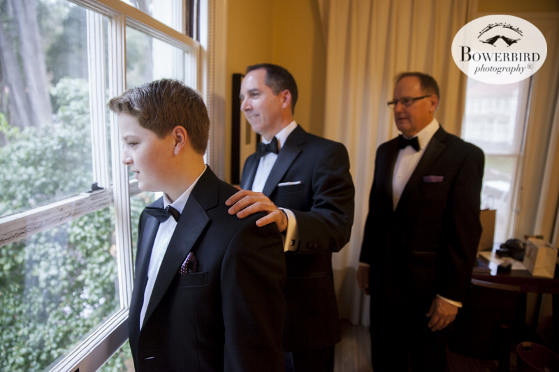 Wedding prep with the guys at Cavallo Point Lodge in Sausalito. © Bowerbird Photography 2015