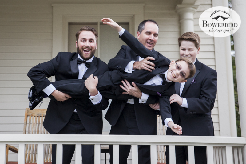 Hijinks with the guys before the wedding ceremony at Cavallo Point Lodge in Sausalito. © Bowerbird Photography 2015