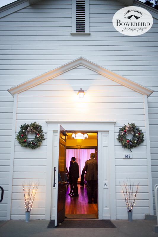 The guests enter the church for the ceremony. Cavallo Point Lodge in Sausalito. © Bowerbird Photography 2015