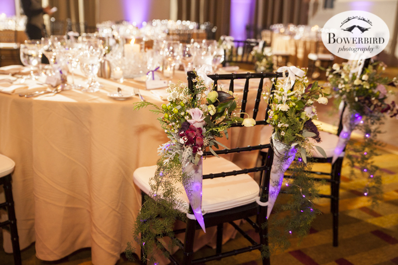 Wedding Reception Table Setting Cavallo Point Lodge in Sausalito. © Bowerbird Photography 2015