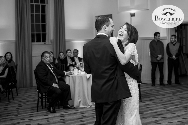 He makes her laugh. Wedding Photography at Cavallo Point Lodge in Sausalito. © Bowerbird Photography 2015