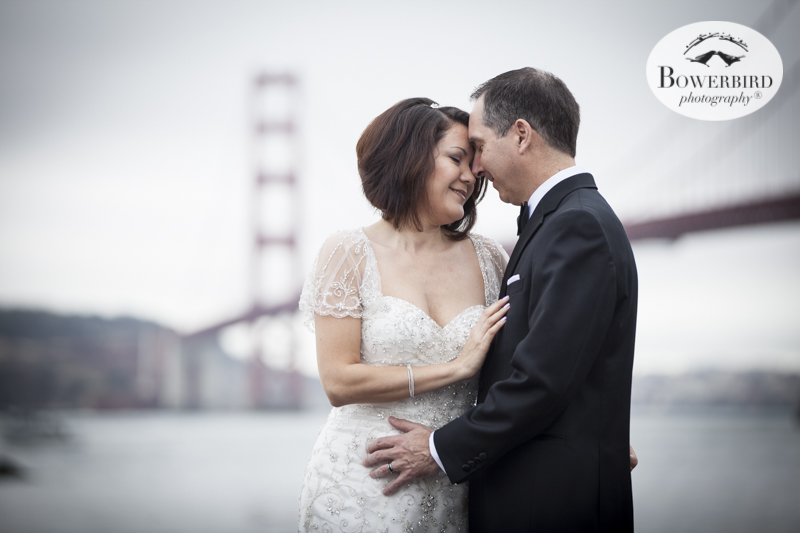 That's love! Cavallo Point Lodge wedding photos by the water. © Bowerbird Photography 2015