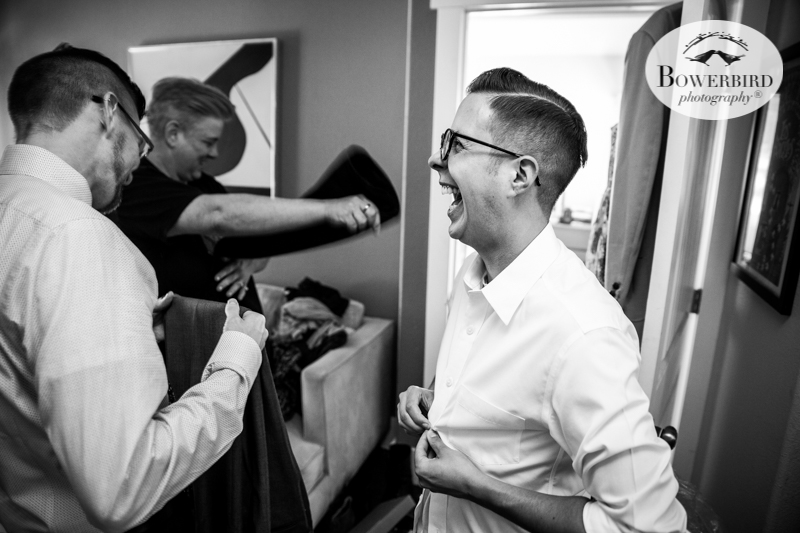 Los Angeles Destination Wedding Photography. The groom getting ready. © Bowerbird Photography 2016