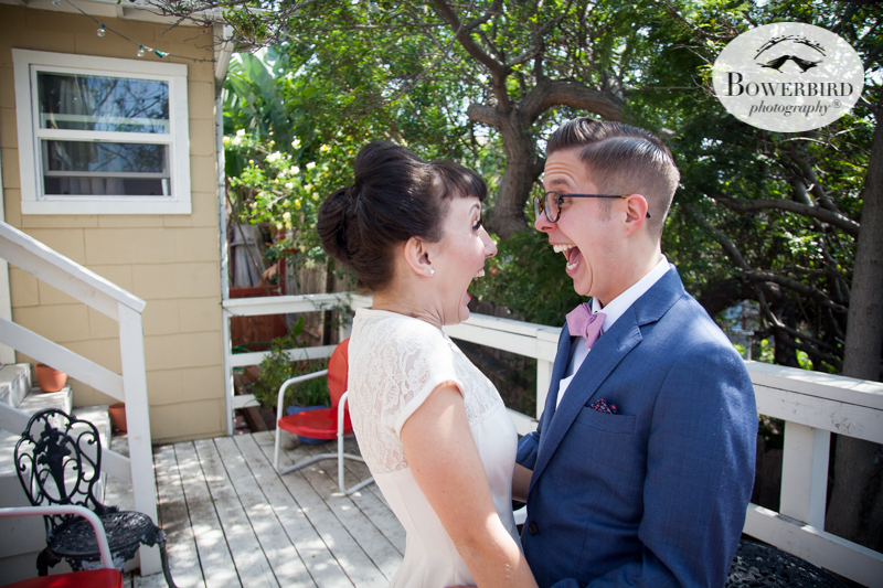 Los Angeles Destination Wedding Photography. The bride and groom see each other for the first time! © Bowerbird Photography 2016