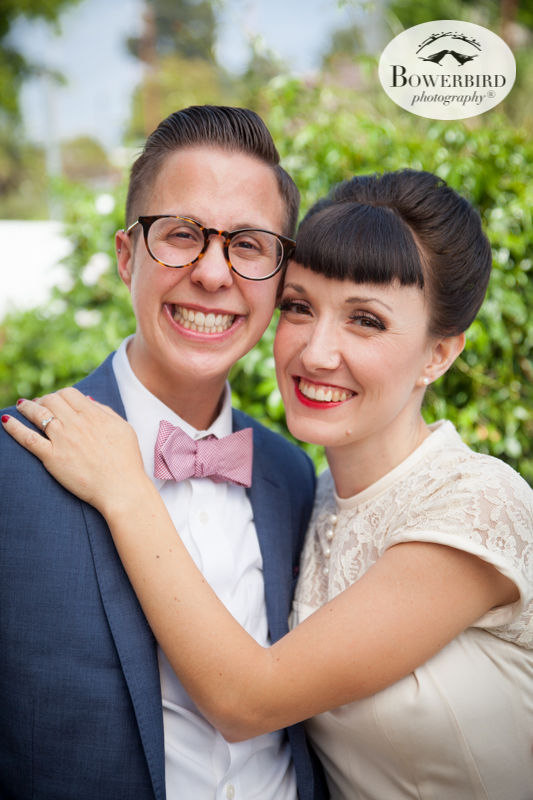 Los Angeles Destination Wedding Photography. Portrait session with the bride and groom at the house. © Bowerbird Photography 2016