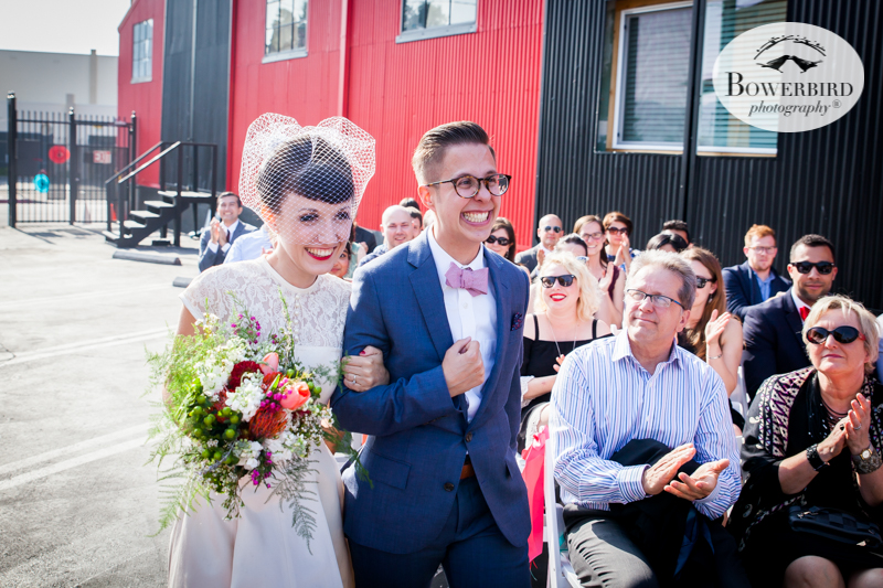 Los Angeles Destination Wedding Photography. The bride and groom walking into the ceremony together. © Bowerbird Photography 2016