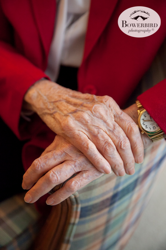 San Francisco Family Photographer. Portrait of grandma's hands on her 95th birthday. © Bowerbird Photography 2016