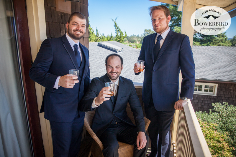 Cheers to you gents!DeLoach Vineyards. Sonoma Wedding Photographer. © Bowerbird Photography 2016