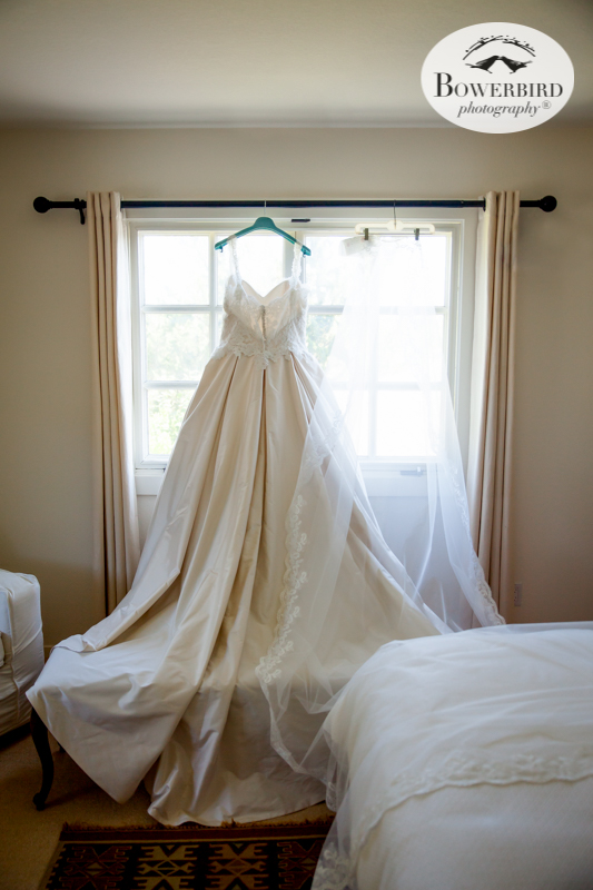 This shot of the bride's wedding dress make our hearts go pitter-patter.DeLoach Vineyards. Sonoma Wedding Photographer. © Bowerbird Photography 2016