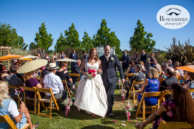 Can't hide that feeling! They're married!DeLoach Vineyards. Sonoma Wedding Photographer. © Bowerbird Photography 2016