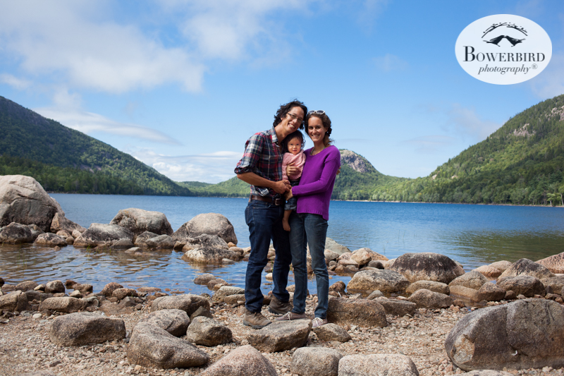 Jordan Pond, Acadia National Park. Traveling with baby in Acadia National Park, Mt. Desert Island, Bar Harbor, Maine. © Bowerbird Photography 2016