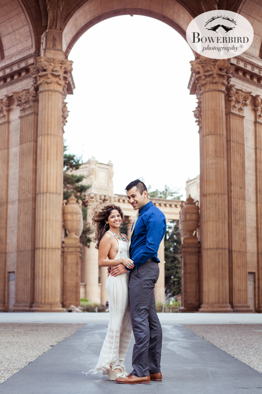 Palace of Fine Arts Engagement Photography © Bowerbird Photography