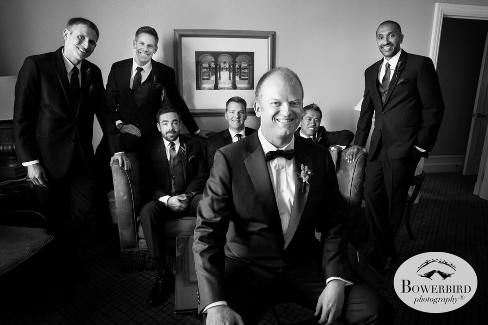 Mark Hopkins Hotel groom wedding prep photos. © Bowerbird Photography 2016