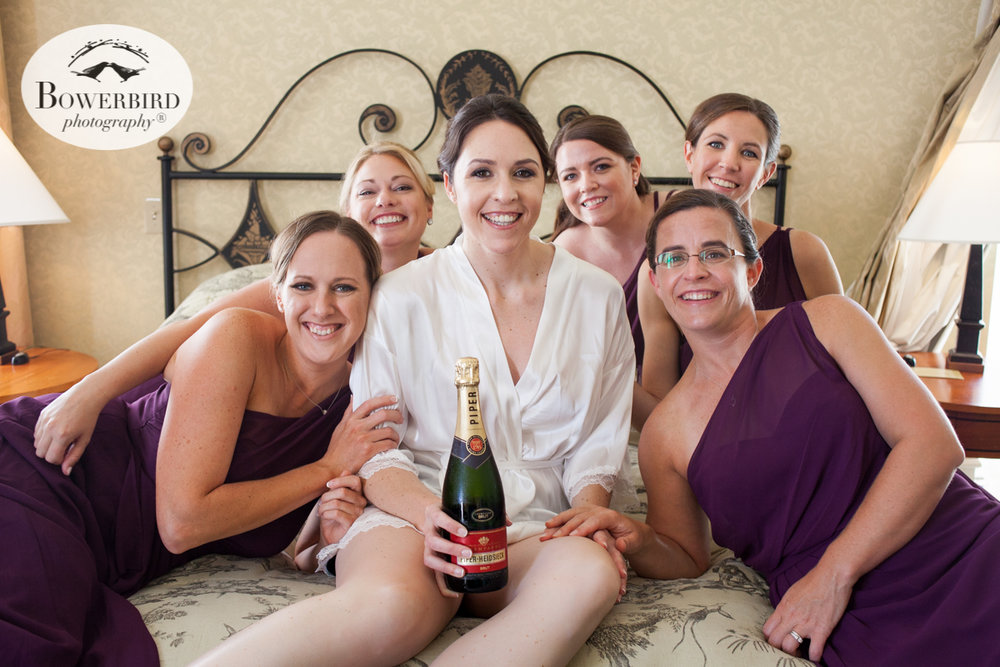 Mark Hopkins Hotel wedding prep bridal party photos. © Bowerbird Photography 2016
