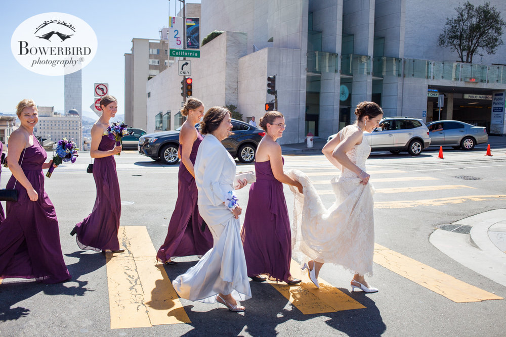 The bride and her entourage embark from the Mark to Grace. © Bowerbird Photography 2016.