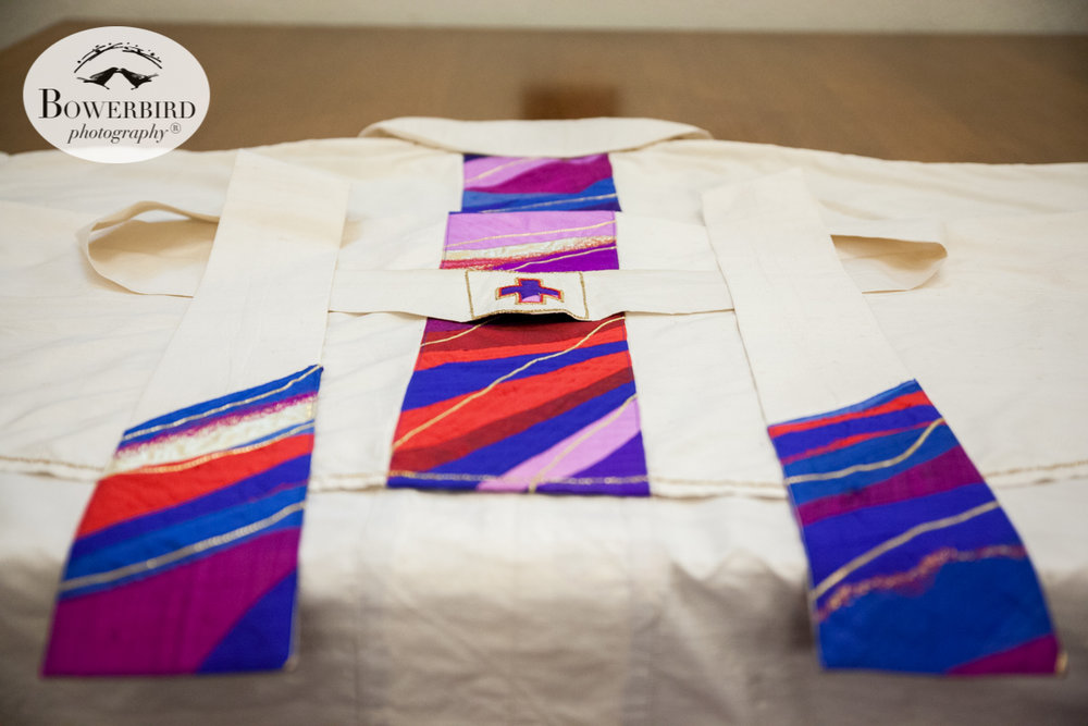 Vestments. Wedding photos at Grace Cathedral. © Bowerbird Photography 2016