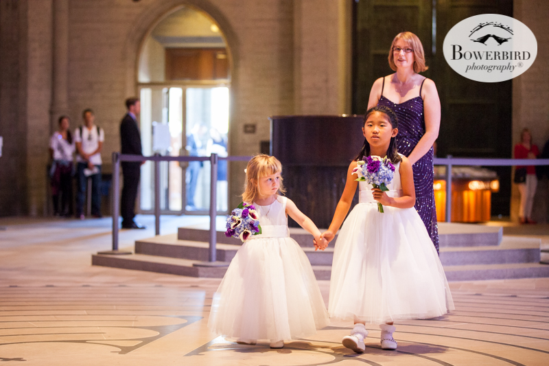The flower girls are adorable! Wedding photos at Grace Cathedral. © Bowerbird Photography 2016