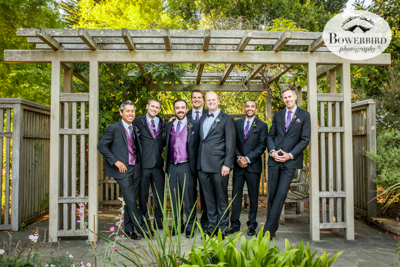 The groomsmen at the SF Botanical Garden © Bowerbird Photography 2016