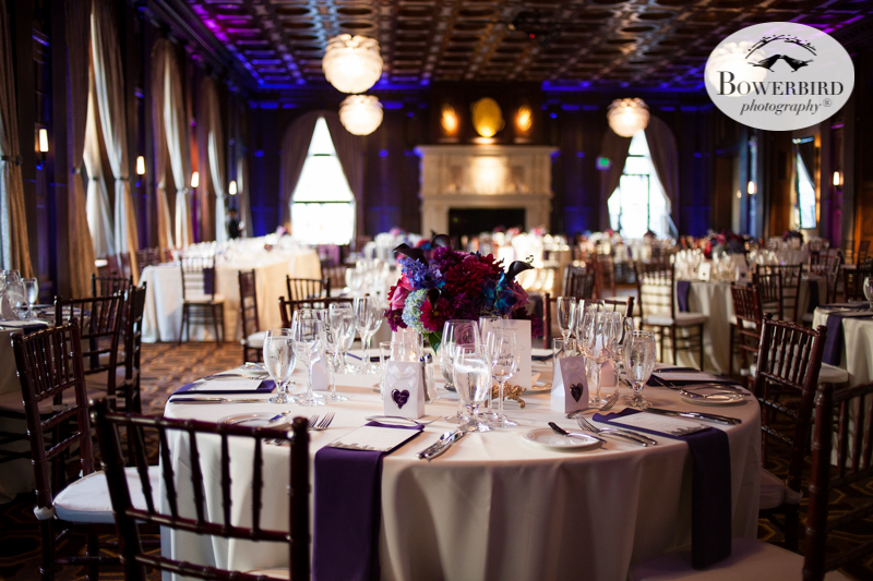 The table layout at the Julia Morgan Ballroom is beautiful! © Bowerbird Photography 2016