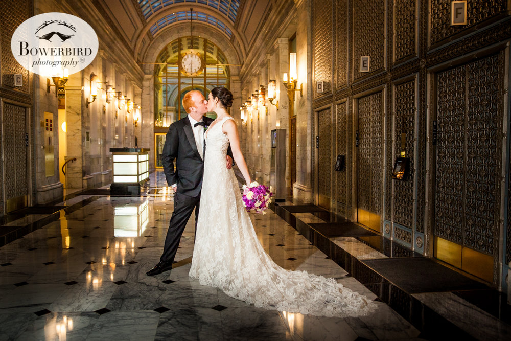 The Julia Morgan Ballroom has a grand entrance, but the bride and groom definitely make it swoon-worthy! © Bowerbird Photography 2016