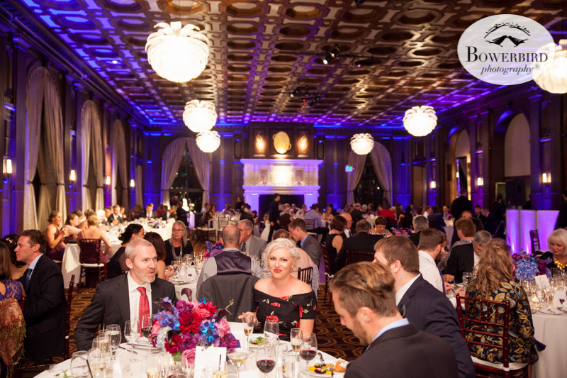 This is what a reception at the Julia Morgan Ballroom looks like. Dining to the nines! © Bowerbird Photography 2016