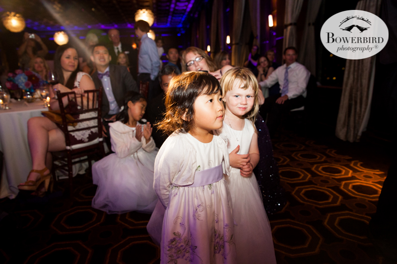 These kids can't wait for their turn to try some wedding cake, at the Julia Morgan Ballroom. © Bowerbird Photography 2016