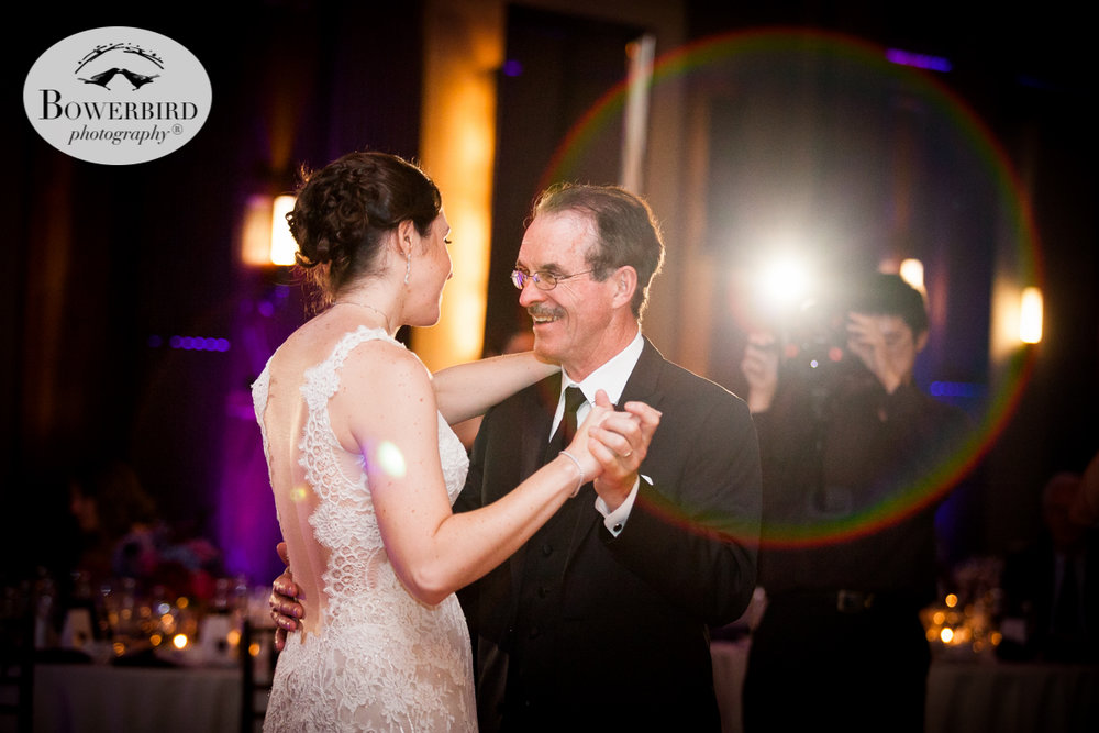 The bride and her dad dance at the Julia Morgan Ballroom. © Bowerbird Photography 2016