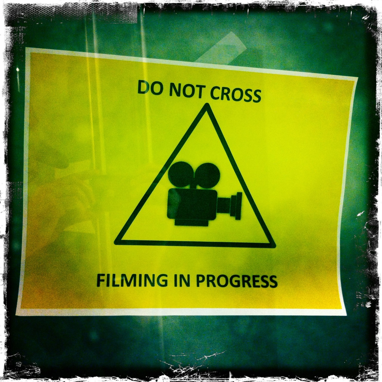 Do Not Cross Or Put Camera In Triangle Case.