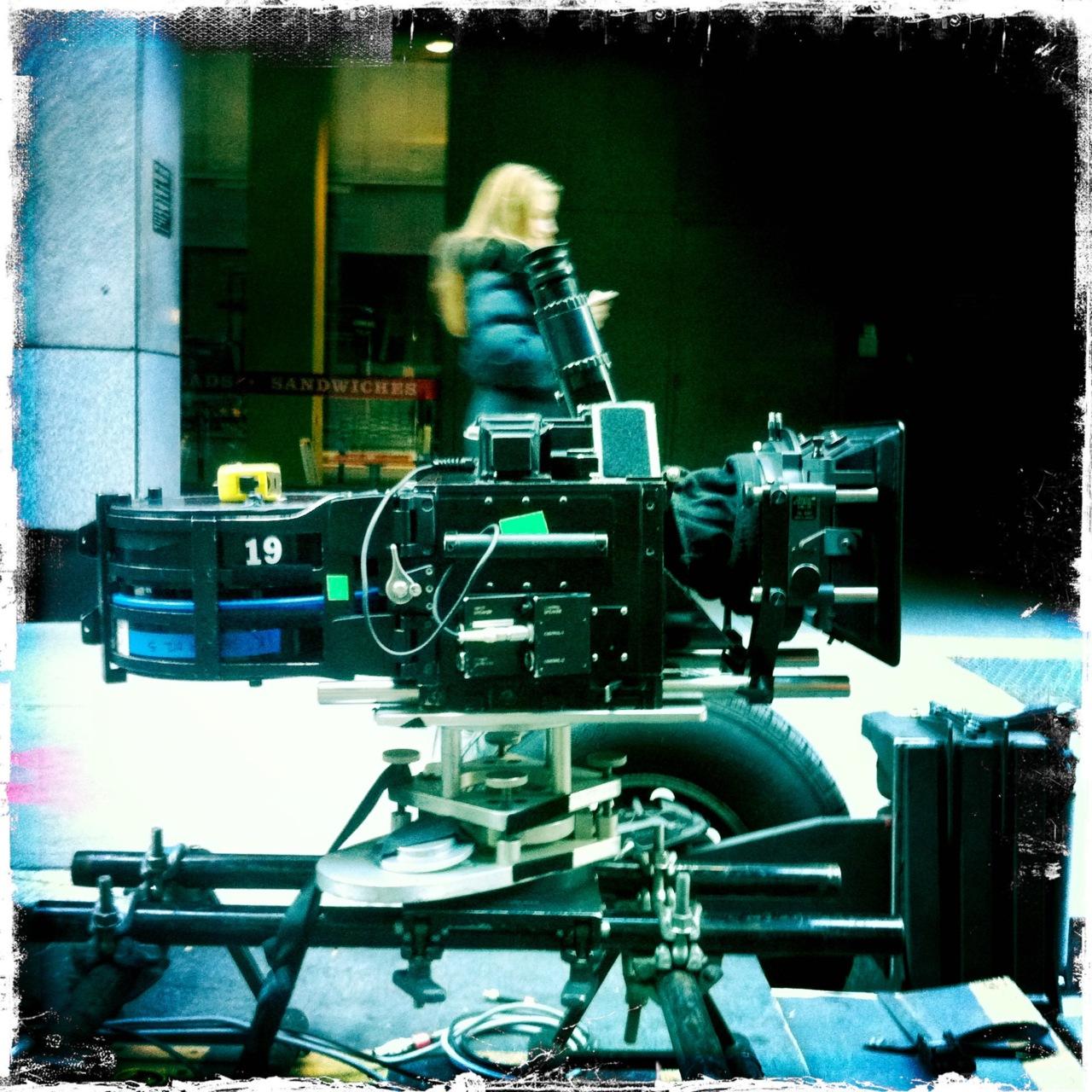 Batcam 1 on set of Magnus Rex.