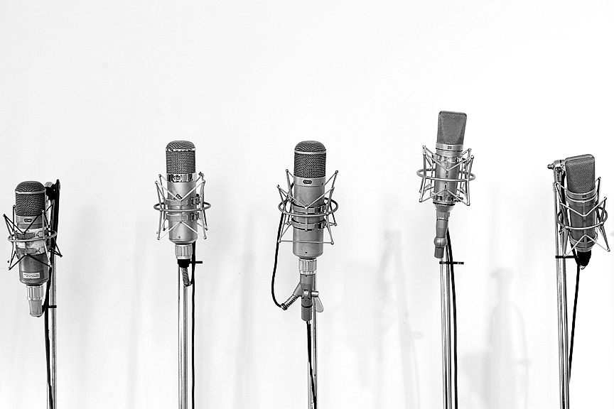Five Mics. These are 5 of Sear Sound's 285 vintage microphones. The studio is the oldest recording studio in NYC and has hosted everyone from Paul McCartney, to David Bowie to Sigur Ros. I wonder which mics they used…