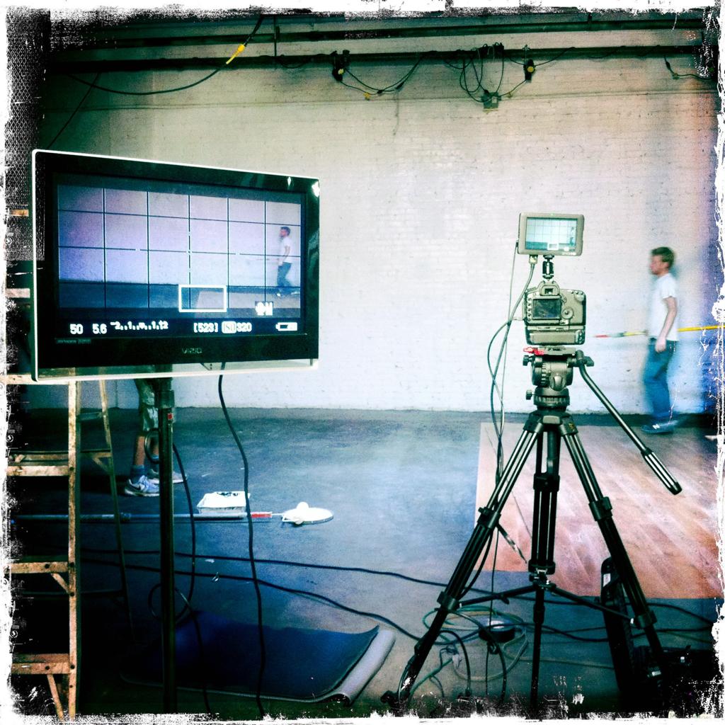 Little monitor Big monitor.