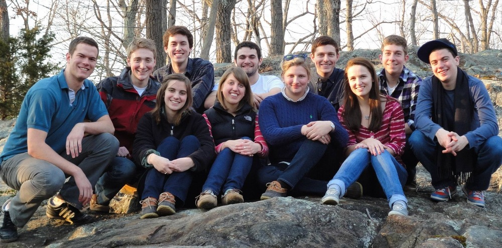 Members of Duelly Noted on tour in Kinnelon, N.J.